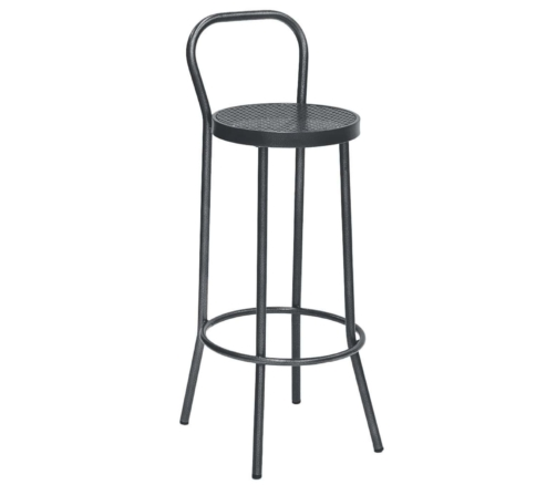 PUERTO counter stool with backrest
