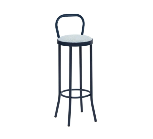 PUERTO upholstered counter stool with backrest